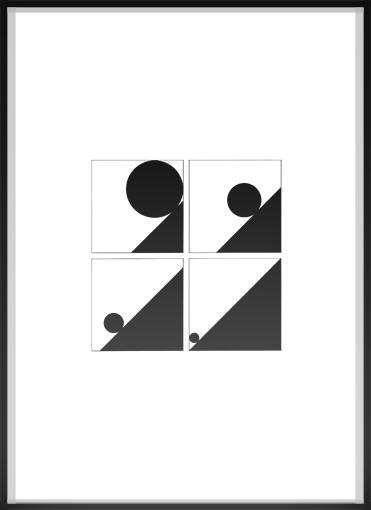 silhouette, framed