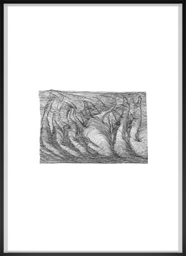 india ink on paper, framed